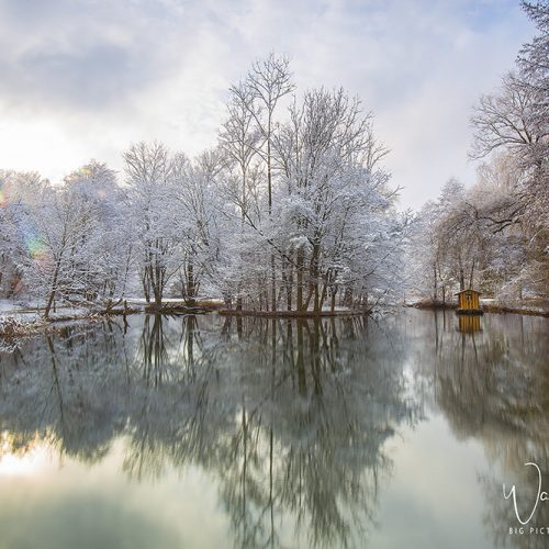 Ein Teich in Seebenstein